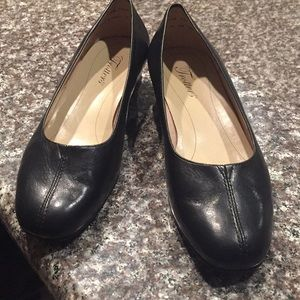 Trotters black soft leather size 71/2 W New